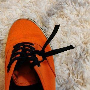 Vans Shoes - Neon Orange Authentic Vans
